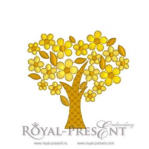 Дизайн для вышивальной машины скачать бесплатно Золотое дерево удачи
