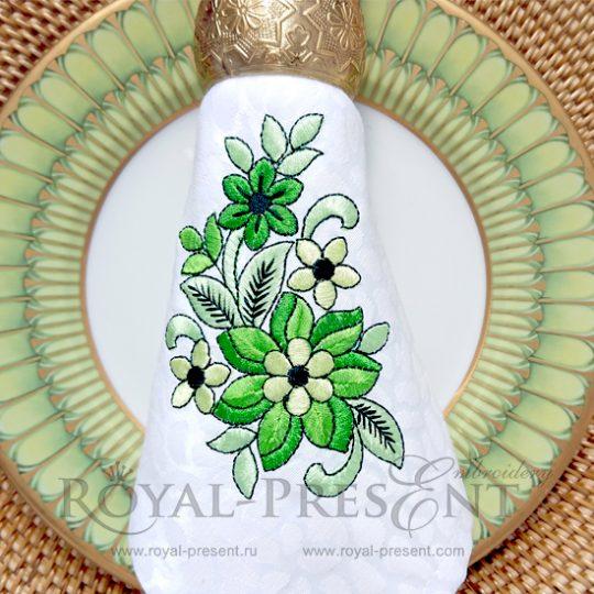 Дизайн для машинной вышивки бесплатно Весенняя зелень