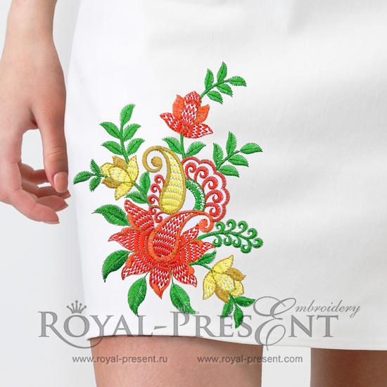 Дизайн для машинной вышивки Восточный букет
