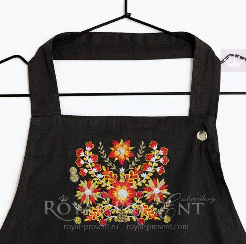 Бесплатный Дизайн машинной вышивки Индийский орнамент