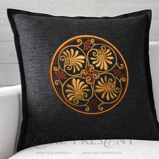 Дизайн для декоративной подушки Классический греческий орнамент