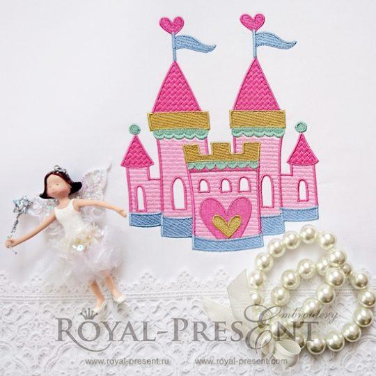 Дизайн машинной вышивки Замок принцессы