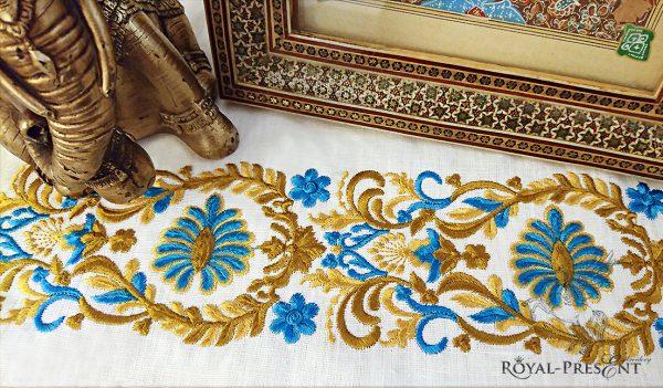 Дизайн машинной вышивки Элегантный индийский бордюр