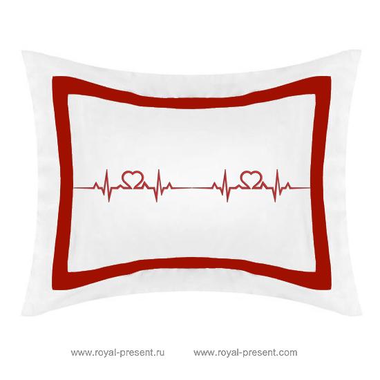 Дизайн машинной вышивки бесплатно Кардиограмма любви