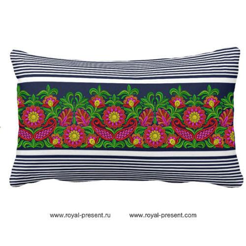 Дизайн машинной вышивки для бордюра бесплатно Буйство красок