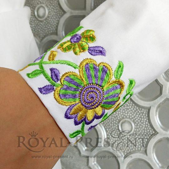 Дизайн машинной вышивки Фольклорный бордюр