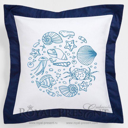 Дизайн для машинной вышивки Морское царство