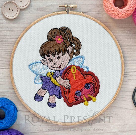 Дизайн машинной вышивки Маленькая швейная Фея