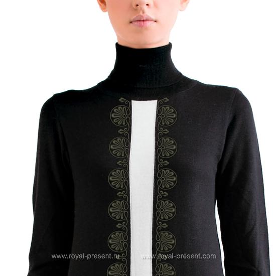 Дизайн машинной вышивки Классический бордюр