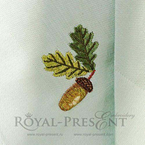 Дизайн машинной вышивки бесплатно Жёлуди