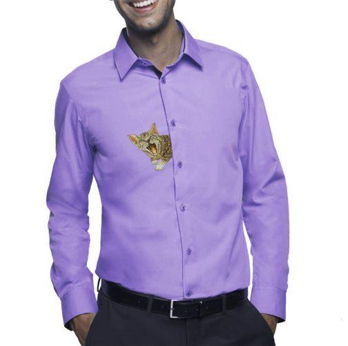 Дизайн машинной вышивки Котенок за пазухой