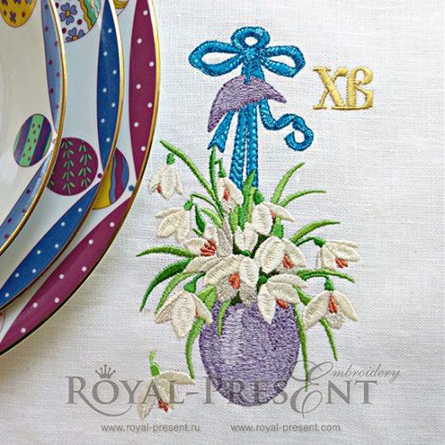 Дизайн машинной вышивки Христос Воскрес