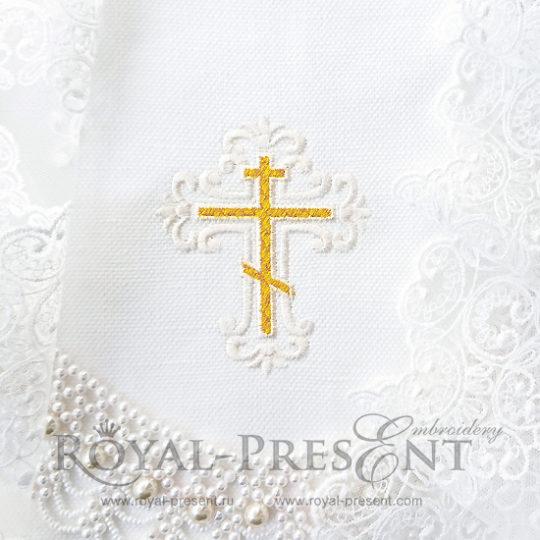 Дизайн машинной вышивки Элегантный крестик