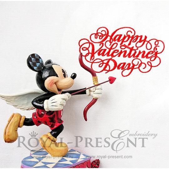 Дизайн машинной вышивки бесплатно День Святого Валентина