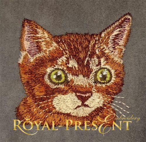 Дизайн машинной вышивки Кот в кармане