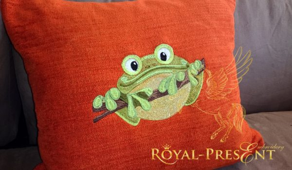 Дизайн машинной вышивки Лягушка