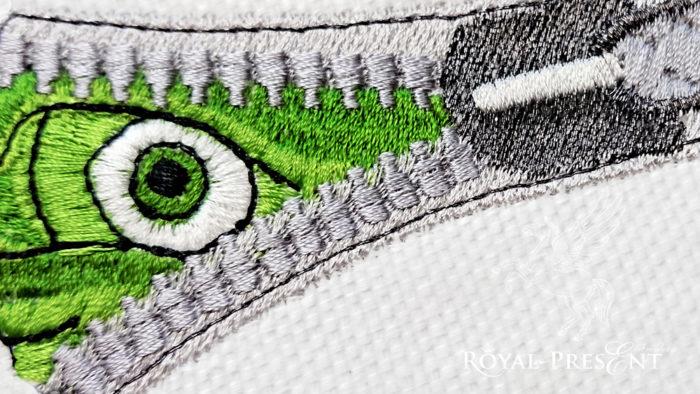 Дизайн машинной вышивки Глаз в молнии