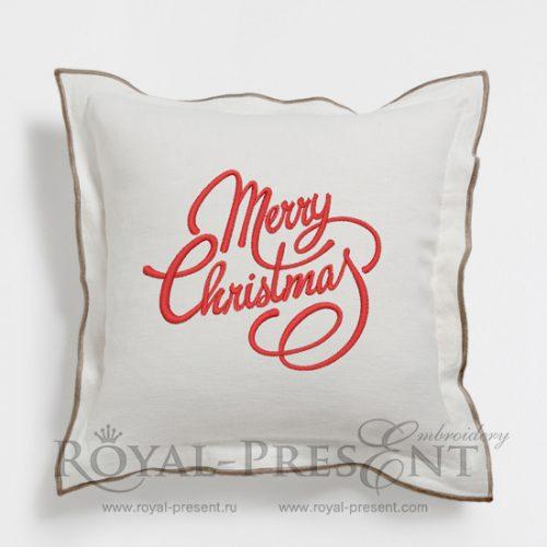Бесплатный Дизайн машинной вышивки Счастливого рождества