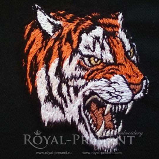 Дизайн машинной вышивки Тигр