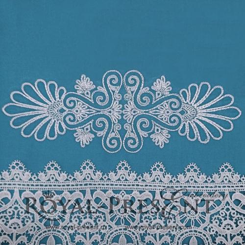 Дизайн машинной вышивки Элегантный декор бесплатно