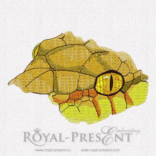 Дизайн для машинной вышивки Голова змеи
