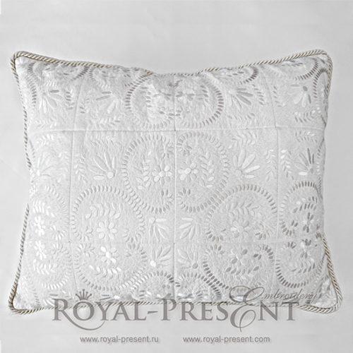 Дизайн машинной вышивки для квилта Растительный декор