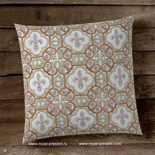 Дизайн вышивки Орнамент с геральдической лилией