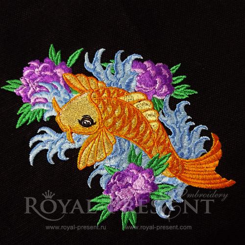 Дизайн машинной вышивки Рыбка КОИ