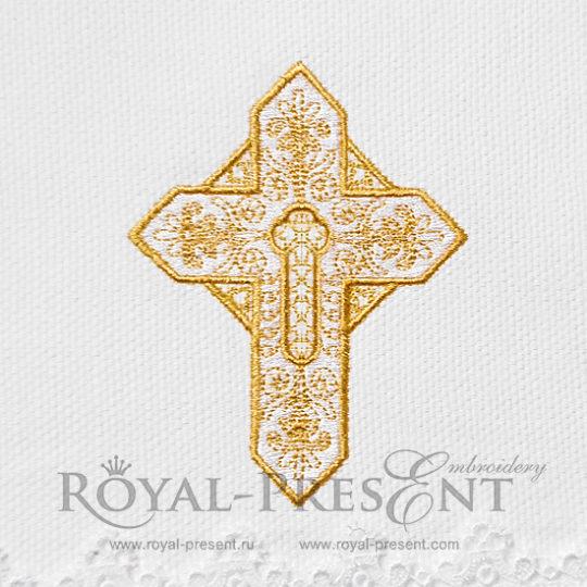 Дизайн для машинной вышивки Крест
