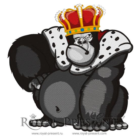 Дизайн для машинной вышивки Король обезьян