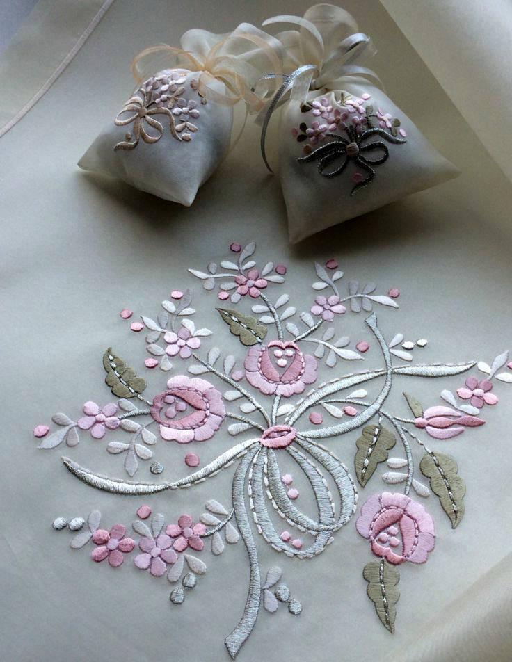 Дизайн машинной вышивки - букетик