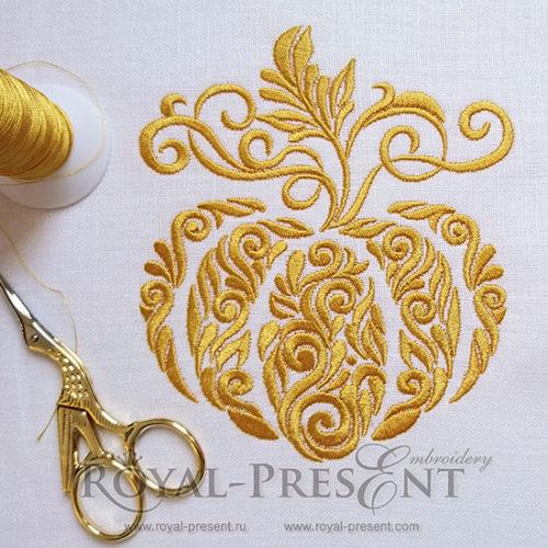 Дизайн машинной вышивки Орнаментальная тыква