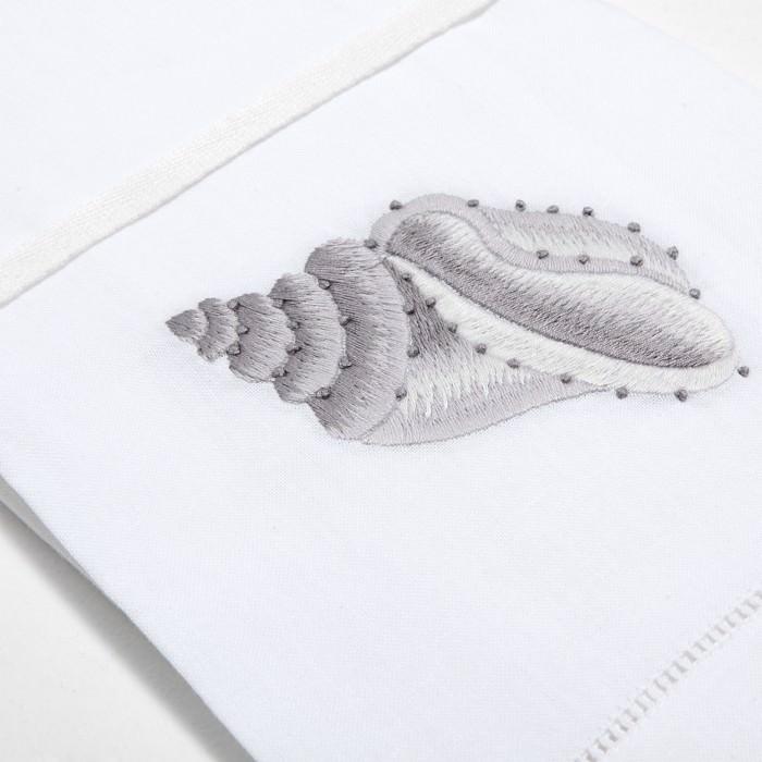Дизайн машинной вышивки Красивая ракушка