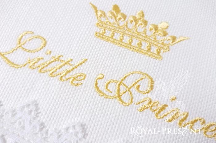 Дизайн машинной вышивки Чудесная надпись для маленькой Принцессы