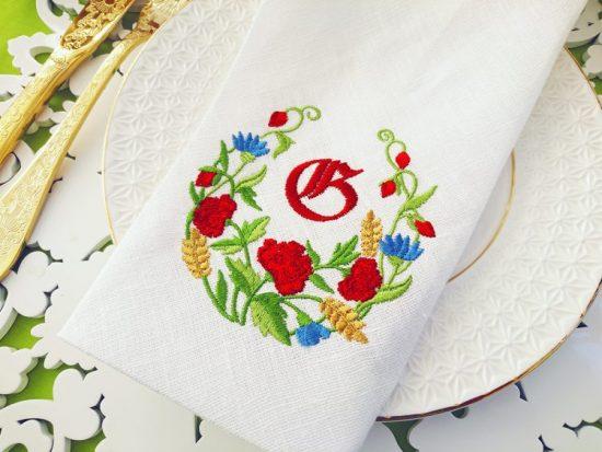 Дизайн для машинной вышивки Летние цветы