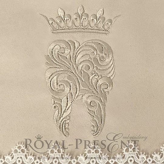 Дизайн машинной вышивки Зуб с короной