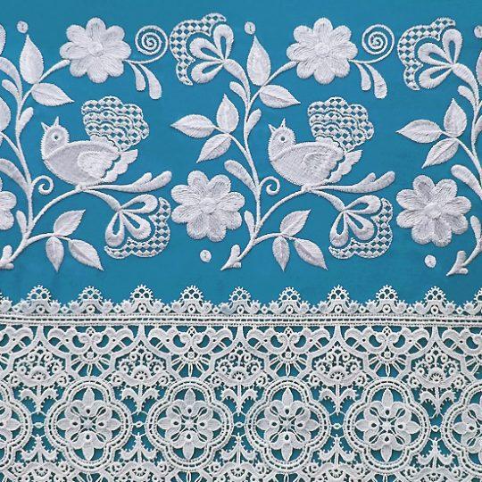 Дизайн машинной вышивки Фольклорная птичка на ветке