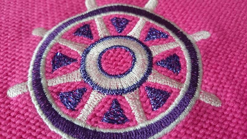 Дизайн машинной вышивки Штурвал