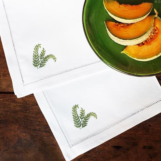 Дизайн машинной вышивки Папоротник