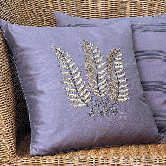Дизайн машинной вышивки Листья папоротника