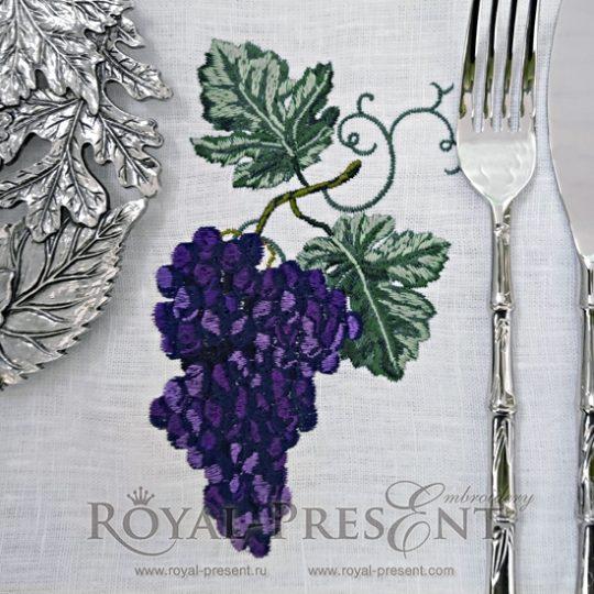 Дизайн машинной вышивки Виноград