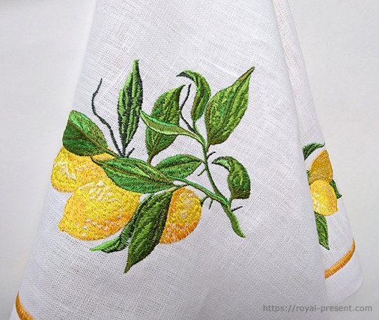 Дизайн машинной вышивки Лимоны