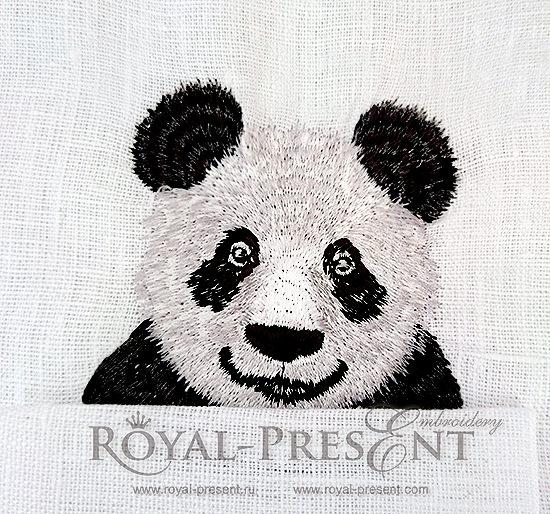 Дизайн машинной вышивки Панда в кармане