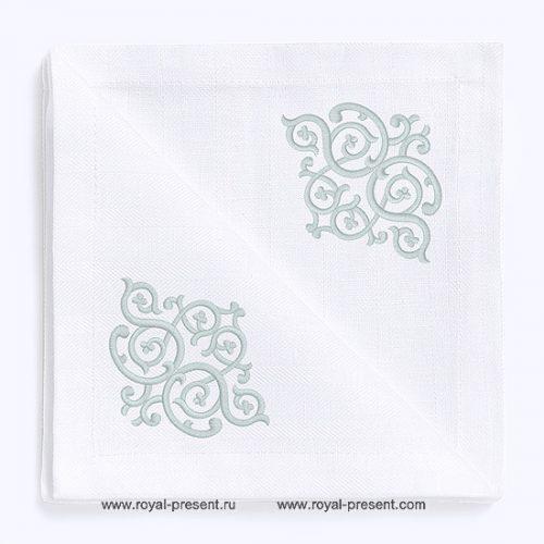 Угловой Узор для машинной вышивки Арабеска - 6 размеров