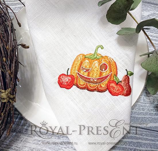 Дизайн машинной вышивки Осення Тыква