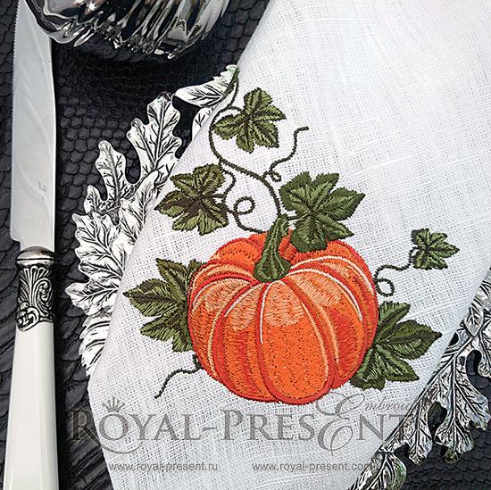 Дизайн машинной вышивки Элегантная тыква