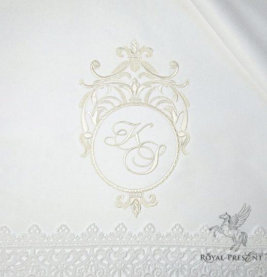 Дизайн машинной вышивки Классическое обрамление для монограммы
