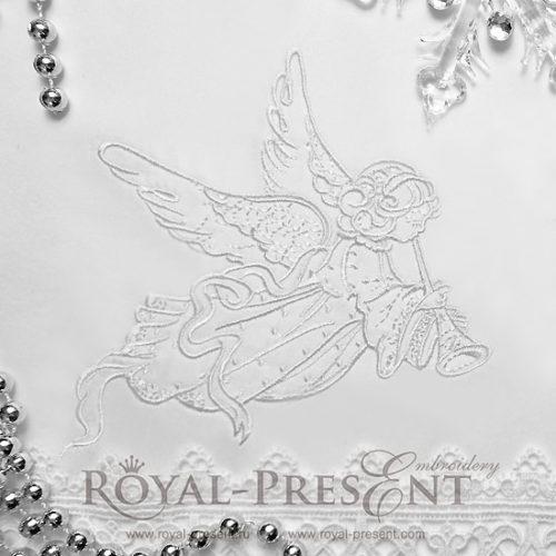 Дизайн машинной вышивки Рождественский Ангел