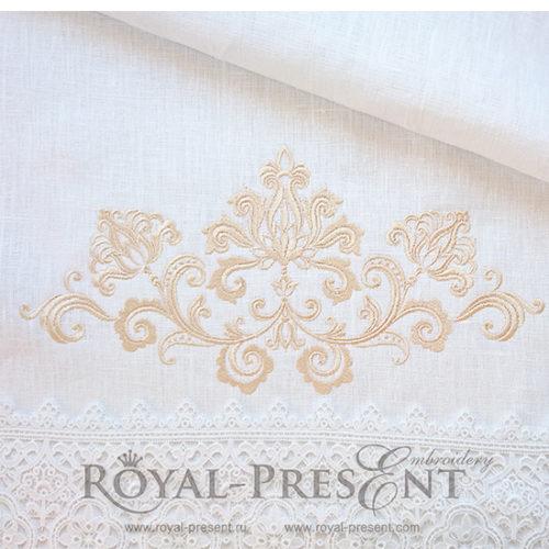 Дизайн машинной вышивки Винтажный элегантный декор
