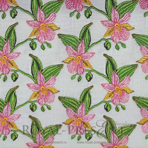 Дизайн машинной вышивки Бесконечные орхидеи